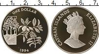 Продать Монеты Каймановы острова 1 доллар 1994 Серебро