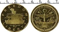 Изображение Монеты Маршалловы острова 10 долларов 1995 Латунь UNC Вечный огонь