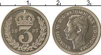 Изображение Монеты Великобритания 3 пенса 1937 Серебро Prooflike Георг VI