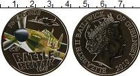 Изображение Монеты Гернси 5 фунтов 2010 Медно-никель UNC Битва за Британию