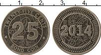 Изображение Монеты Африка Зимбабве 25 центов 2014 Медно-никель UNC-