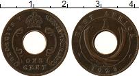 Продать Монеты Восточная Африка 1 цент 1923 Бронза