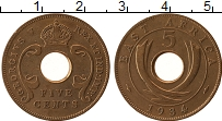 Изображение Монеты Восточная Африка 5 центов 1934 Бронза XF Георг V
