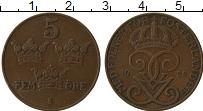 Изображение Монеты Швеция 5 эре 1922 Бронза XF