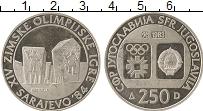 Изображение Монеты Югославия 250 динар 1983 Серебро Proof- Олимпиада в Сараево