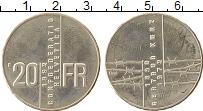 Изображение Монеты Швейцария 20 франков 1992 Серебро UNC- Гертруд Курц