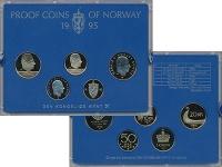 Изображение Подарочные монеты Норвегия Набор 1995 года 1995  Proof