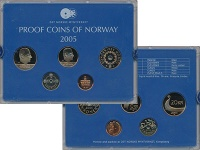 Изображение Подарочные монеты Норвегия Набор 2005 года 2005  Proof