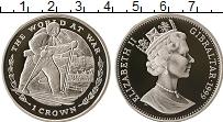 Изображение Монеты Гибралтар 1 крона 1999 Серебро Proof Елизавета II.  WWII.