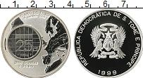 Изображение Монеты Сан-Томе и Принсипи Сан Томе и Принсисипи 2000 добрас 1999 Серебро Proof-