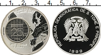 Изображение Монеты Сан Томе и Принсисипи 2000 добрас 1999 Серебро Proof-