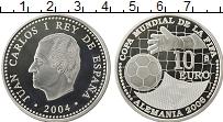 Изображение Монеты Испания 10 евро 2004 Серебро Proof- Чемпионат мира по фу