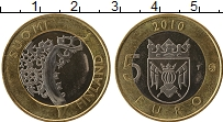 Изображение Монеты Финляндия 5 евро 2010 Биметалл UNC- Единство Финляндии