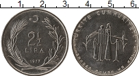 Изображение Монеты Турция 2 1/2 лиры 1977 Сталь UNC- ФАО