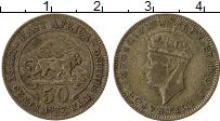 Изображение Монеты Восточная Африка 1/2 шиллинга 1937 Серебро XF Георг VI