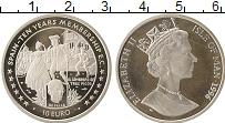 Изображение Монеты Остров Мэн 10 евро 1996 Серебро Proof- Елизавета II.