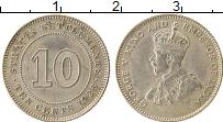 Изображение Монеты Стрейтс-Сеттльмент 10 центов 1926 Серебро UNC- Георг V