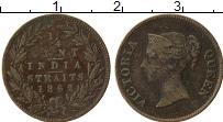 Изображение Монеты Стрейтс-Сеттльмент 1/4 анны 1862 Медь VF Виктория