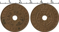 Изображение Монеты Родезия 1 пенни 1950 Бронза XF Георг VI. Южная Роде