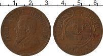 Изображение Монеты ЮАР 1 пенни 1898 Медь XF Герб