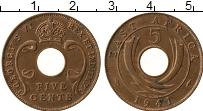 Продать Монеты Восточная Африка 5 центов 1942 Бронза