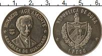 Изображение Монеты Куба 1 песо 1977 Медно-никель UNC- Игнасио Аграмонте