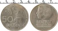 Изображение Монеты Нидерланды 50 гульденов 1982 Серебро UNC-