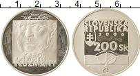 Изображение Монеты Словакия 200 крон 2006 Серебро Proof- Карол Кузмани