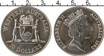 Изображение Монеты Австралия 10 долларов 1990 Серебро UNC Западная Австралия