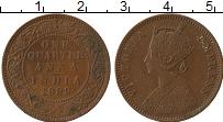 Изображение Монеты Индия 1/4 анны 1889 Медь XF
