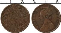 Изображение Монеты Индия 1/4 анны 1862 Медь XF Виктория