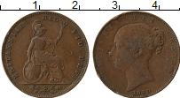 Изображение Монеты Великобритания 1 фартинг 1840 Медь VF