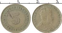 Изображение Монеты Стрейтс-Сеттльмент 5 центов 1910 Серебро XF Эдуард VII