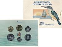 Изображение Подарочные монеты Новая Зеландия Набор 1993 года 1993  UNC Набор из пяти монет