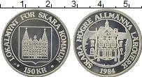 Изображение Монеты Швеция 150 крон 1984 Серебро UNC-
