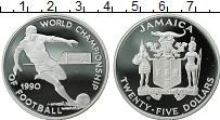 Изображение Монеты Ямайка 25 долларов 1990 Серебро Proof