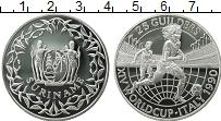 Изображение Монеты Суринам 25 гульденов 1990 Серебро Proof Чемпионат Мира по фу