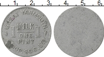Изображение Монеты Великобритания Жетон 0 Алюминий VF 1 пинта молока