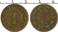 Изображение Монеты Дания 1 скиллинг 1856 Латунь XF Фредерик VII