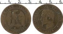 Изображение Монеты Франция 10 сантим 1856 Медь VF Наполеон III