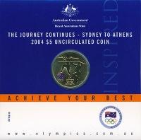 Изображение Подарочные монеты Австралия 5 долларов 2004 Латунь UNC