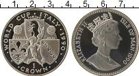 Изображение Монеты Остров Мэн 1 крона 1990 Серебро Proof-