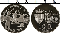 Изображение Монеты Андорра 10 динерс 1989 Серебро Proof- Чемпионат Мира по фу