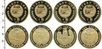 Изображение Наборы монет Северная Корея 1 вон 2019 Латунь UNC В наборе 4 монет ном