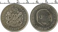 Изображение Монеты Африка Сьерра-Леоне 50 центов 1972 Медно-никель XF