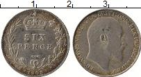 Изображение Монеты Великобритания 6 пенсов 1902 Серебро XF