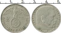 Изображение Монеты Третий Рейх 2 марки 1937 Серебро XF D Гинденбург