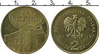 Изображение Монеты Польша 2 злотых 2013 Латунь UNC- 100 лет театру в Вар