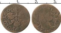 Изображение Монеты Польша 1 боратинка 1665 Медь VF Ян Казимир