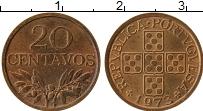 Изображение Монеты Португалия 20 сентаво 1973 Бронза UNC-